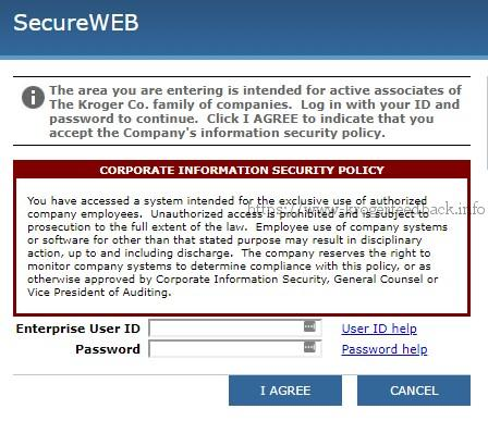 kroger secureweb login