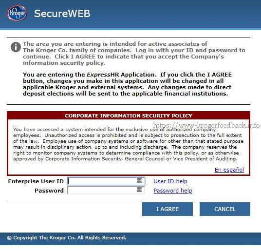 kroger express hr secureweb sso login