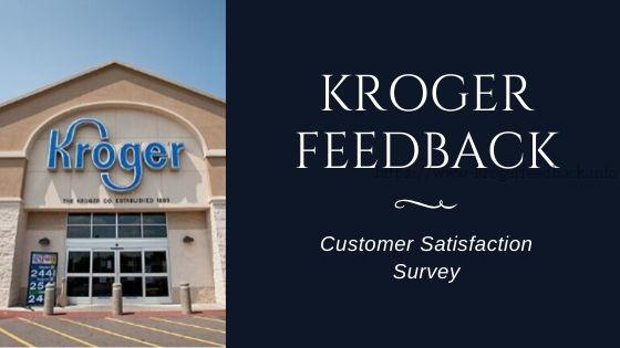 kroger feedback survey program